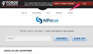 Forge Skip Ad