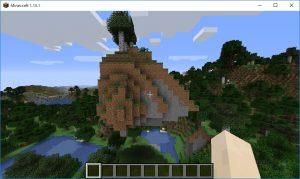 Minecraft いきなり上空にラピュタがあった件