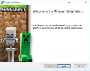 Minecraftインストール初期画面